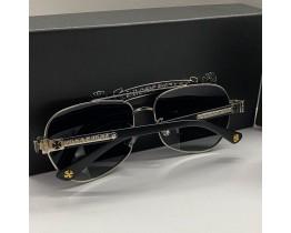 Сонцезахисні чоловічі окуляри Chrome Hearts 5078 silver