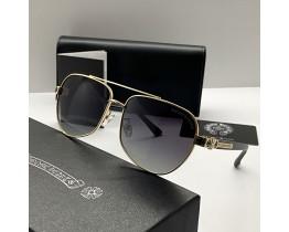 Сонцезахисні чоловічі окуляри Chrome Hearts 5078 gold