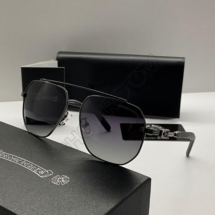 Солнцезащитные мужские очки Chrome Hearts 5079 grey