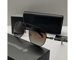 Сонцезахисні чоловічі окуляри Chrome Hearts 5079 brown