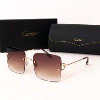 Женские безоправные солнцезащитные очки (5301) brown