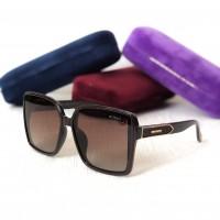 Женские солнцезащитные очки с поляризацией Gucci (5420) коричневые