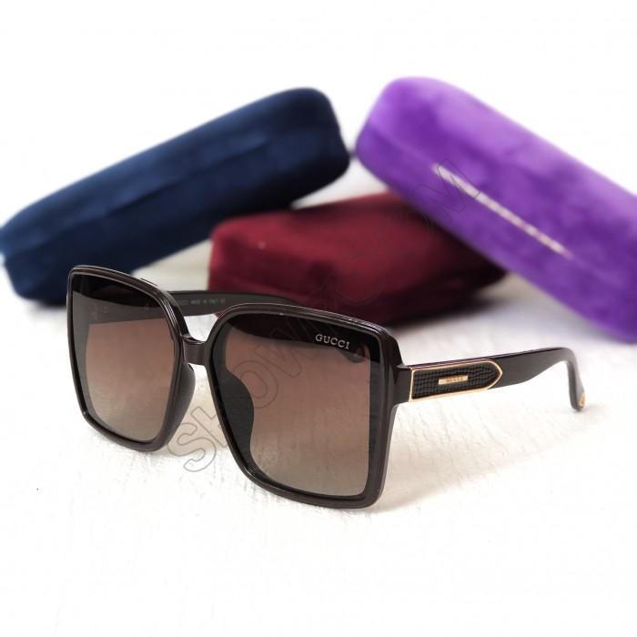 Женские солнцезащитные очки с поляризацией GG (5420) коричневые