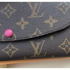 Жіночий шкіряний гаманець Louis Vuitton (60136) crimson
