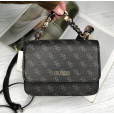 Женская брендовая сумка на плечо Guess (602814) серый