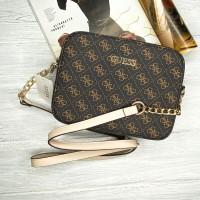 Женская сумочка на плечо Guess (60445) коричневый