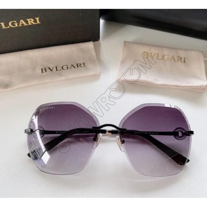 Женские брендовые солнцезащитные очки Bv (6151) grey Lux