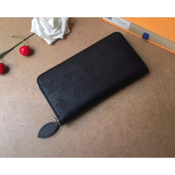 Женский кожаный кошелек LV (61867) black