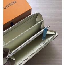 Женский кожаный кошелек LV (61867) white