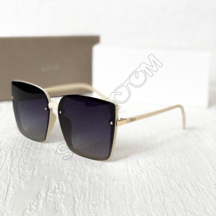Женские брендовые солнцезащитные очки с поляризацией (6299) белые