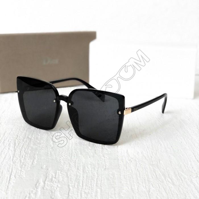 Женские брендовые солнцезащитные очки с поляризацией (6299) черные