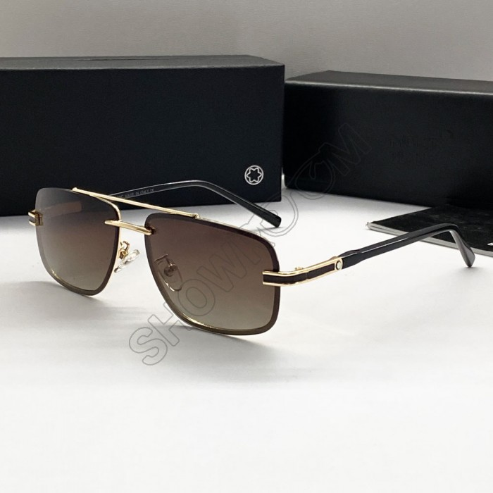 Чоловічі брендові сонячні окуляри Mb (658) polaroid gold