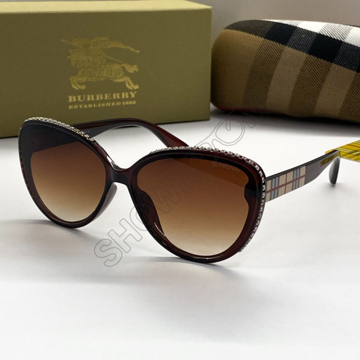 Женские брендовые солнцезащитные очки (66032) brown