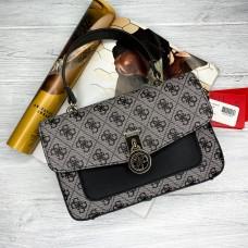 Женская стильная сумка на плечо Guess (6693) grey