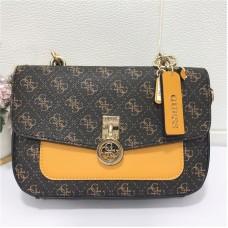 Женская стильная сумка на плечо Guess (6693) brown
