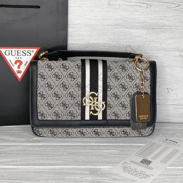 Женская тряпичная сумка на плечо Guess (6697)