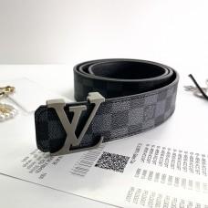 Мужской кожаный ремень брендовый (7010) Lux