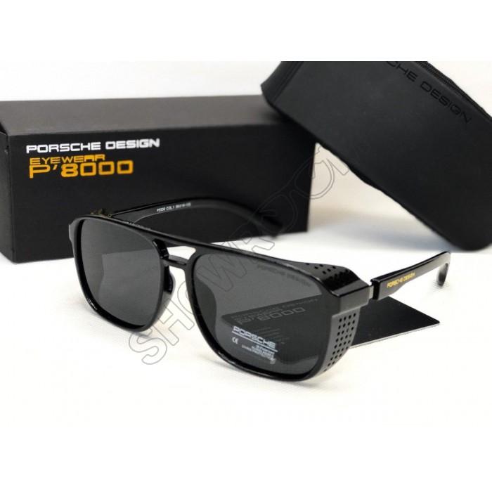 Мужские солнцезащитные очки маска Porsche Desing (7018) черный