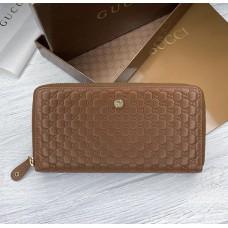 Женский брендовый кожаный кошелек GG (7025)
