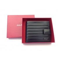 Мужское брендовое портмоне на кнопке SF (7104) real leather