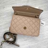 Небольшая женская сумочка на плечо Guess (7115) пудровая