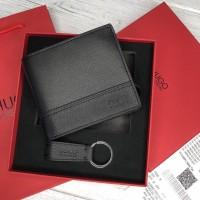 Мужское брендовое портмоне с монетницей (7701), поддарочная упаковка