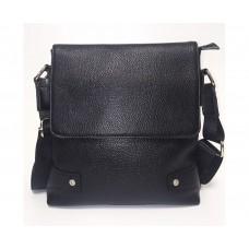 Містка чоловіча сумка Leather Collection (7858) шкіряна чорна