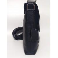 Вместительная мужская сумка Leather Collection (7858) кожаная черная