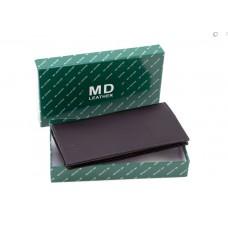 Бумажник мужской (8102) кожаный черный