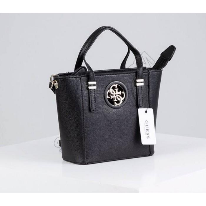 Женская брендовая сумка кроссбоди Guess (814-2) черная