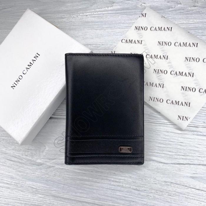 Кожаная обложка для паспорта Nino Camani black leather