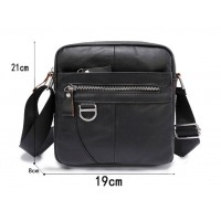Кожаная мужская сумка Leather Collection (8865) черная