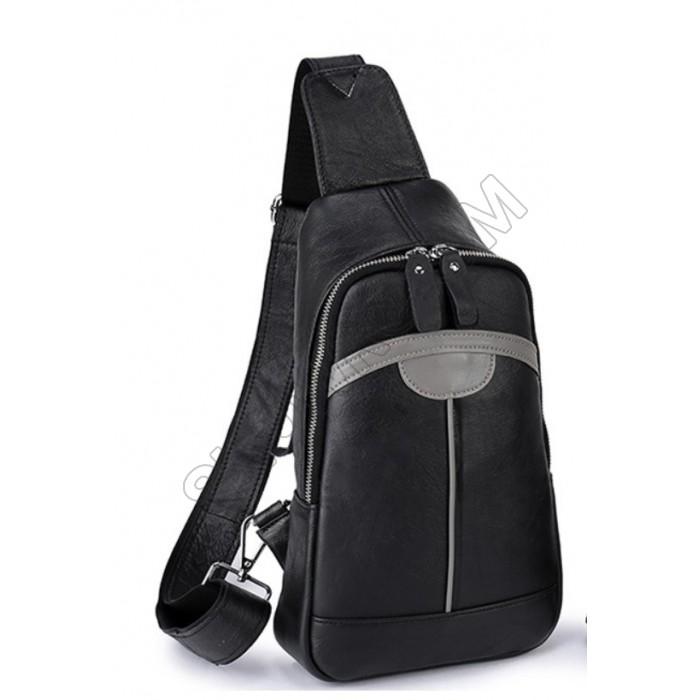 Мужская сумка на грудь (слинг) Leather Collection (8868)