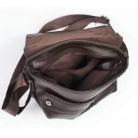 Кожаная мужская сумка через плечо Leather Collection (8869)