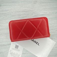 Женский брендовый кожаный кошелек Ch (9001) red