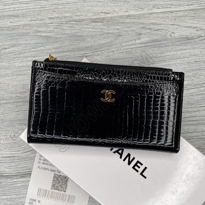 Кожаный женский кошелек - визитница (9043) black Lux