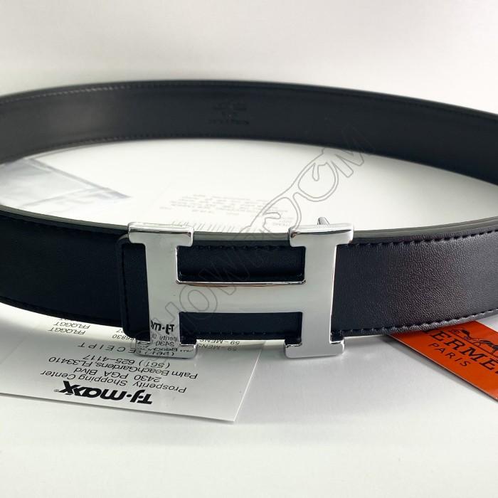 Мужской кожаный брендовый ремень (9103)