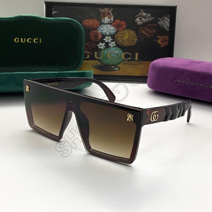 Женские очки маска от солнца GG (9106) brown