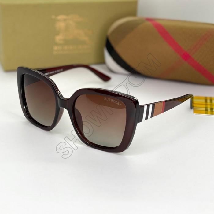 Женские брендовые солнечные очки (9240) brown