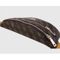"""Женская сумка на пояс """"бананка"""" коричневая"""
