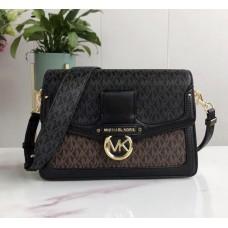 Женская кожаная сумка Mk (9923)Lux