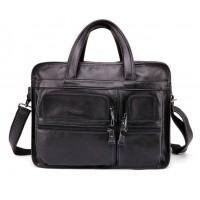 Мужская большая вместительная сумка Leather Collection (9946) кожаная