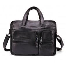 Чоловіча велика містка сумка Leather Collection (9946) шкіряна