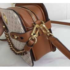 Женская кожаная сумка Mk Carmen beige Lux