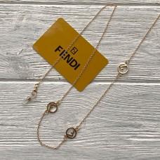 Брендовая цепочка для солнцезащитных очков Fendi gold