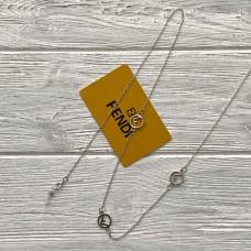 Брендовая цепочка для солнцезащитных очков Fendi silver