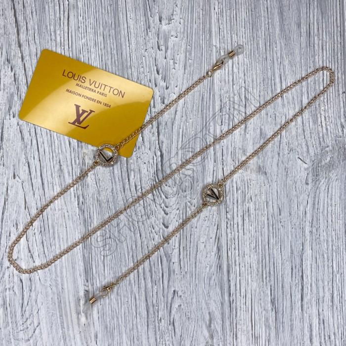 Брендовая цепочка для солнцезащитных очков LV gold