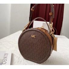 Женская кожаная сумка Mk Delaney brown Lux