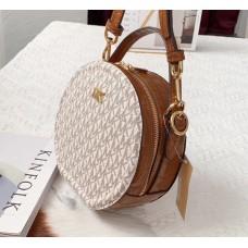 Женская кожаная сумка Mk Delaney beige Lux