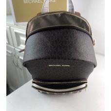 Женский кожаный брендовый рюкзак Michael Kors Erin Brown Lux